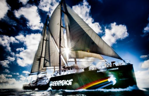 Rainbow Warrior Near the Queensland Coast